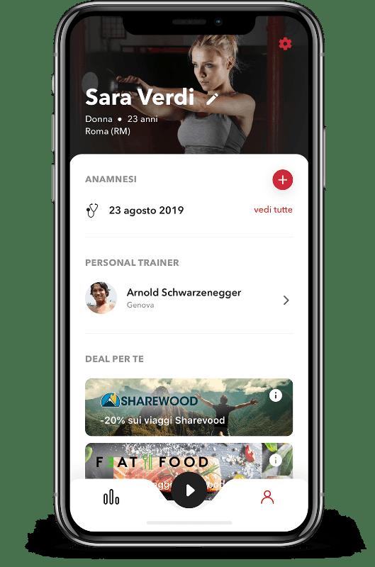schermata profilo app revoo